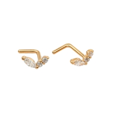 KPN 042 Gold Stud Nose Piercing