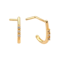 KPN 044 Gold Stud Nose Piercing