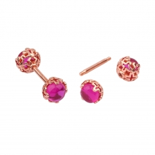 KPE 4457 Gold barbell ball Cartilage Helix Stud Earring Piercing