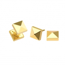KPE 2669-1 Gold Square barbell Cartilage Helix Stud Earring Piercing