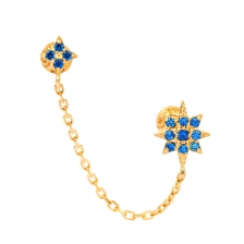 KPE 4500 chain Gold Cartilage Helix Stud Earring Piercing