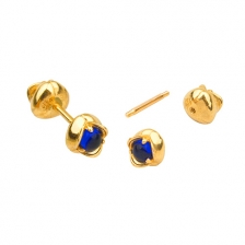 KPE 4629 14K Gold Barbell Cartilage Helix Earring Piercing