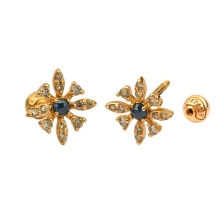 KPE 4662 Diamond Gold Earring Piercing