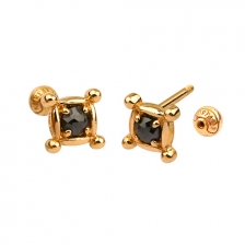 KPE 4663 Diamond Gold Earring Piercing