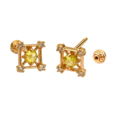 KPE 4664 Diamond Gold Earring Piercing