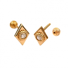 KPE 4667 Diamond Gold Earring Piercing