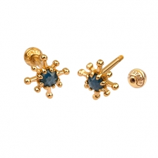 KPE 4668 Diamond Gold Earring Piercing
