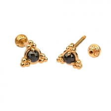 KPE 4669 Diamond Gold Earring Piercing