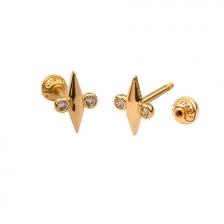 KPE 4670 14K Gold Cartilage Helix Earring Piercing