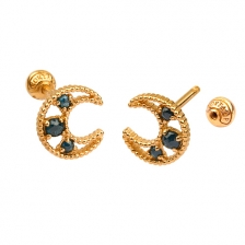 KPE 4672 Diamond Gold Earring Piercing