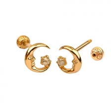 KPE 4674 Diamond Gold Earring Piercing