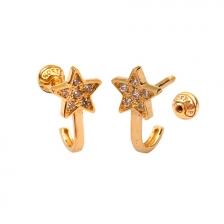 KPE 4676 14K Gold Cartilage Helix Earring Piercing