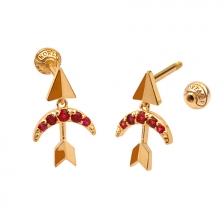 KPE4677 14K Gold Cartilage Helix Earring Piercing