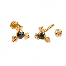 KPE 4681 Diamond Gold Earring Piercing