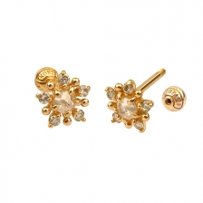 KPE 4682 Diamond Gold Earring Piercing
