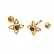 KPE 4683 Diamond Gold Earring Piercing