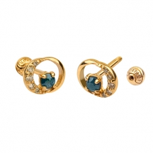 KPE 4685 Diamond Gold Earring Piercing