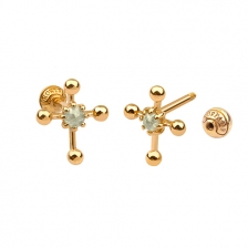 KPE 4686 Diamond Gold Earring Piercing
