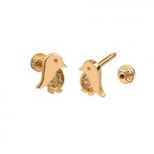 KPE4691 14K Gold Cartilage Helix Earring Piercing