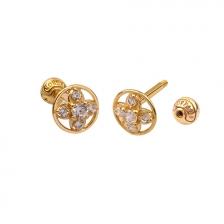 KPE4696 14K Gold Cartilage Helix Earring Piercing
