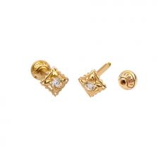 KPE 4698 14K Gold Cartilage Helix Earring Piercing