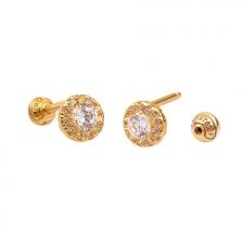KPE4726 14K Gold Cartilage Helix Earring Piercing